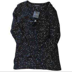 St. John  NWT Caviar Sequin sweater